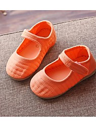Mädchen-Flache Schuhe-Lässig-Baumwolle-Flacher AbsatzGrün Rosa Orange Khaki