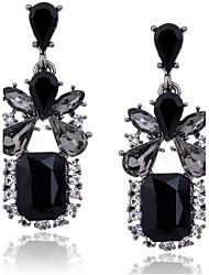Women's Drop Earrings Fashion Luxury European Zircon Cubic Zirconia Imitation Diamond Alloy Square Drop Jewelry For Daily Casual