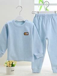 малыш Набор одежды-На каждый день,Однотонный,Хлопок,Зима / Весна / Осень-Синий / Розовый / Белый