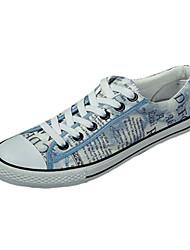 Femme-Décontracté / Sport-Noir / Bleu / Marron-Talon Plat-Confort-Sneakers-Toile
