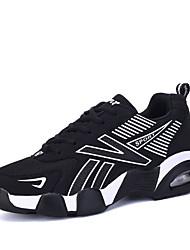 Herren-Sneaker-Lässig / Sportlich-PU / Tüll-Flacher Absatz-Flache Schuhe / Komfort-Blau / Orange / Schwarz und Weiss