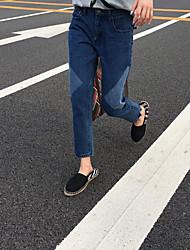Da donna Jeans Pantaloni-Semplice Casual Collage Cotone Micro-elastico All Seasons