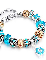 Women Alloy Silver Heart Strand Bracelets