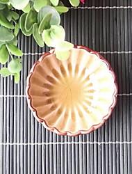 fleur en céramique sauce plaque de forme de pétale plaque circulaire