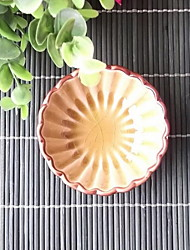Ceramic Flower Petal Shape Plate Sauce Circular Plate