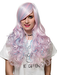 Blue Pink long hair style, Europe and the United States fashion wig.