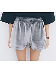 De las mujeres Pantalones Cortos / Chinos-Simple Microelástico-Cachemira