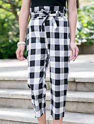 Mulheres Calças Moda de Rua Chinos Algodão Sem Elasticidade Mulheres