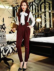 solide pantalon slim de dabuwawa femmes, vintage / street chic / sophistiquée