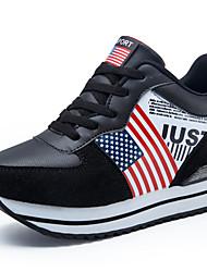 Da donna-Sneakers-Casual-Comoda-Piatto-Tulle-Nero Grigio