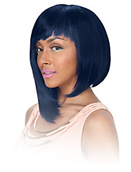 Fashion Synthetic Wigs for Women Heat Resistant Navy Blue Bob Wig