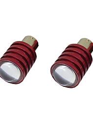 2pcs 1156 5W levou backup de luz do carro inversa bulbo de lâmpada 12v branco