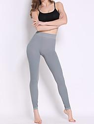 Damen Einfarbig Legging,Nylon Elasthan