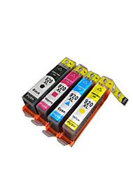 cartucho de impressora (compatível nacional com chip) um grupo de quatro cores preto, vermelho, amarelo, azul