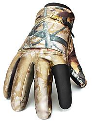 Ski Gloves Winter Gloves Unisex Keep Warm Ski & Snowboard / Snowboarding Gold / Orange Canvas Free Size