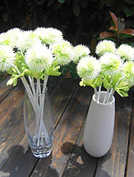 Colourful Cute Silk Ball Chrysanthemum Flower Fake Artificial Dandelion Outdoor Garden Decoration Flower Plant