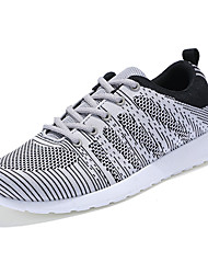 Running Shoes Men's Sneakers Spring / Fall Comfort Tulle Casual Flat Heel Black / Blue / Gray Walking