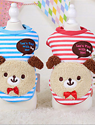 Dog Sweater Red / Blue Winter / Spring/Fall Stripe / Animal Casual/Daily Dog Clothes / Dog Clothing-Other