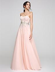 2017 ts Couture® bal soirée formelle robe d'une ligne chérie parole longueur tulle avec des perles / cristal détaillant