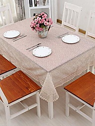 The New Double Deck Glass Yarn Embroidery Rural Table Cloth(150*150cm)