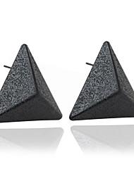 Brinco Triangular Jóias 1 par Fashion Casamento / Pesta / Diário / Casual Zircão Feminino Preto