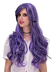 ondulado púrpura lolita wigs.wig pelo, peluca de Halloween, peluca de color, peluca de la manera, peluca natural, peluca cosplay.
