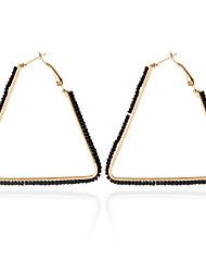 Brinco Triangular Jóias 1 par Fashion Casamento Liga Feminino Dourado / Cores Sortidas / Preto / Branco / Azul / Rosa