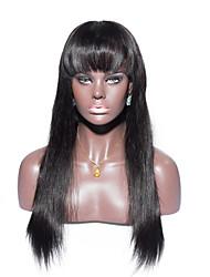 No shedding No tangle Straight Human Hair Full Lace Wig