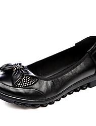 Damen-Flache Schuhe-Hochzeit / Lässig / Sportlich-Leder-Flacher Absatz-Komfort / Stifelette / Boot / Pumps / Modische Stiefel / Passende
