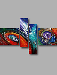 "Stretched (Ready to hang) Hand-Painted Oil Painting 64""x40"" Canvas Wall Art Modern Abstract Blue Purple Red"
