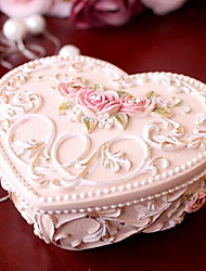 Creative Heart-shaped Princess Resin Decorative Boxes Jewelry Box