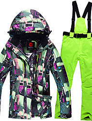 Women Ski Suits Removable Suspenders Wind Proof To Keep Warm