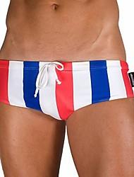 Bottoms Swimwear(Vermelho / Preto) -Homens-Respirável / Secagem Rápida