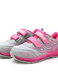 Para Meninas-Tênis-Conforto Light Up Shoes-Rasteiro-Rosa-Tule Couro Ecológico-Para Esporte
