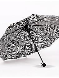 Cinzento Guarda-Chuva Dobrável Ensolarado e chuvoso têxtil Viagem / Lady / Masculino