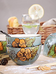 Birds and Flowers of Spring Hand-painted Tableware Suit