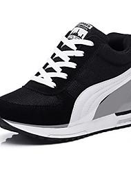 Da donna-Sneakers-Sportivo / Casual-Comoda-Zeppa-Tulle-Nero / Blu / Rosso