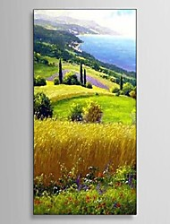 Ready to Hang Stretched Frame Hand-painted Oil Painting Canvas Corridor Wall Art European Garden Scenery