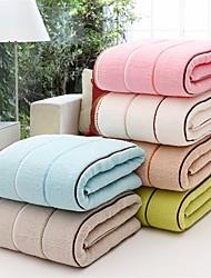 "1 Piece Full Cotton Thickening  Bath Towel 55"" by 27"" Stripe Pattern Super Soft"
