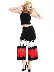 Femme A Motifs Legging,Polyester