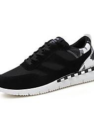 Femme-Sport-Noir / Noir et rouge / Noir et blanc-Talon Plat-Confort-Chaussures d'Athlétisme-Tissu
