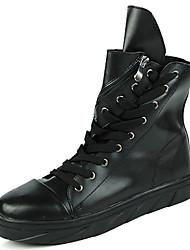 Herren Schuhe PU Leder Herbst Winter Modische Stiefel Schneestiefel Komfort Stiefel Schnürsenkel Reißverschluss Für Sportlich Normal Weiß