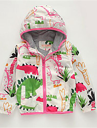 Girl's Casual/Daily Print Jacket & Coat,Cotton Spring / Fall White