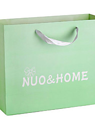 personalizado vestuário saco do presente bolsas senhoras bolsa de mão cartão branco impressão saco de papel feito por um pacote de cinco