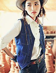 Aporia.As® Women's Round Neck Sleeveless Vest & Waistcoat Dark Blue-MZ10067