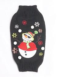 Katzen / Hunde Pullover Schwarz Hundekleidung Winter Karton Lässig/Alltäglich / Weihnachten