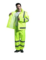 Sf Vest Reflective Raincoat Rain Pants Suit Thick Waterproof Clothing Traffic Warning Safety Specials (Sale XL Code)