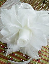 Korean Flower Girl's Flower Feather Fabric Headbands