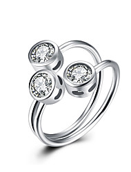 Fine Sterling Silver Diamond Statement Ring for Women Wedding Party