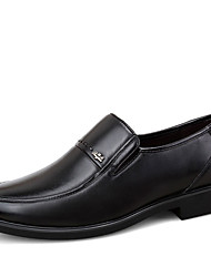 Men's Oxfords Fall Leather Office & Career Low Heel Others Black Brown Walking